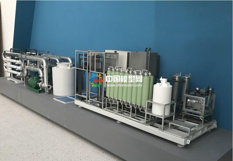 生活垃圾处理厂渗滤液及膜下水处理沙盘模型