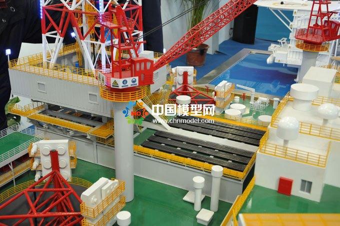 海上石油钻井平台沙盘模型