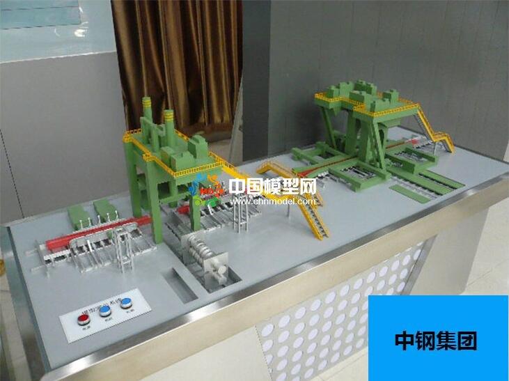 钢铁轧辊成产线沙盘模型