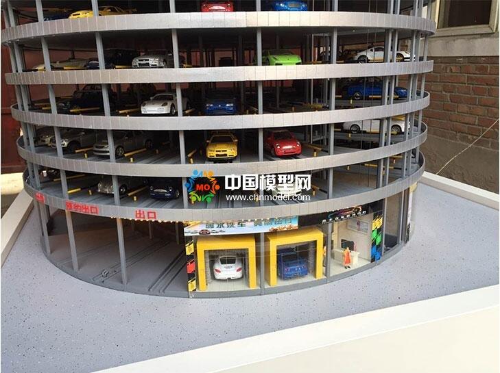 最新智能停车场沙盘模型
