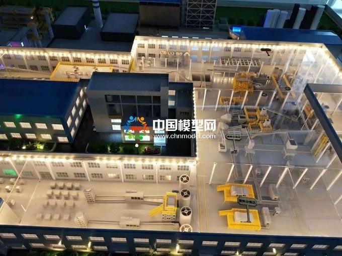 工厂生产线工艺流程沙盘模型