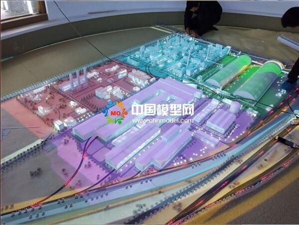 钢铁厂沙盘模型,投影电子沙盘