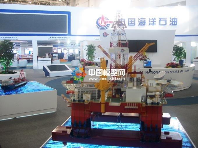 海上石油钻井平台模型