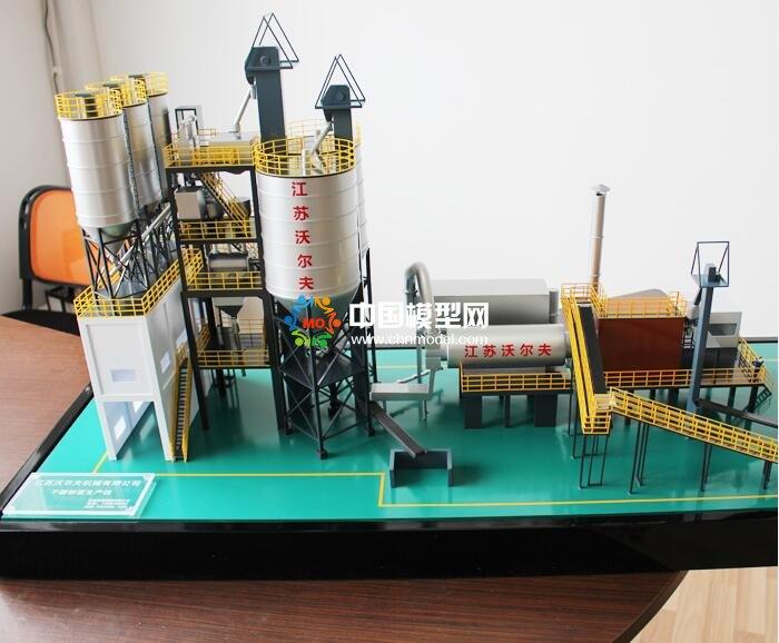 干粉砂浆成套设备沙盘模型