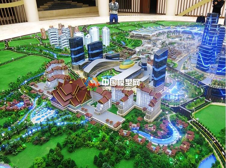 滇池国际会展公园沙盘模型