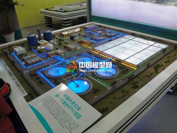 中国水务海外EPC项目沙盘模型,水处理沙盘模型