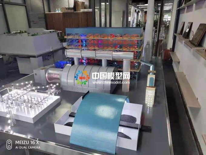 火力发电站原理流程沙盘模型