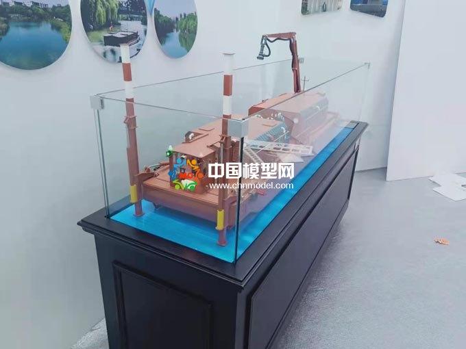 河道清淤船模型,小型清淤船模型,挖泥船模型