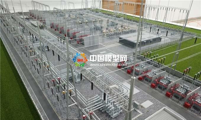 电网变电站模型