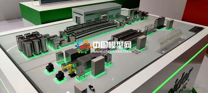 锂电池生产线数字孪生沙盘