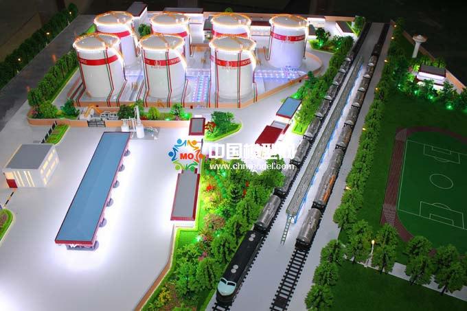 中石化北京地区油库沙盘模型