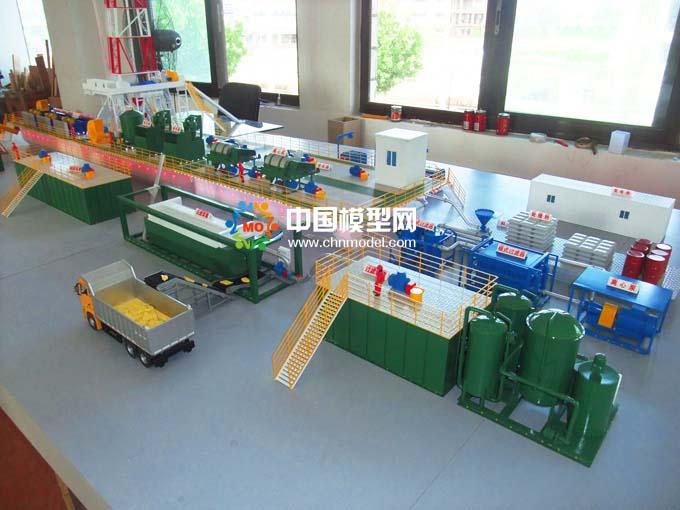 钻井泥浆处理沙盘模型