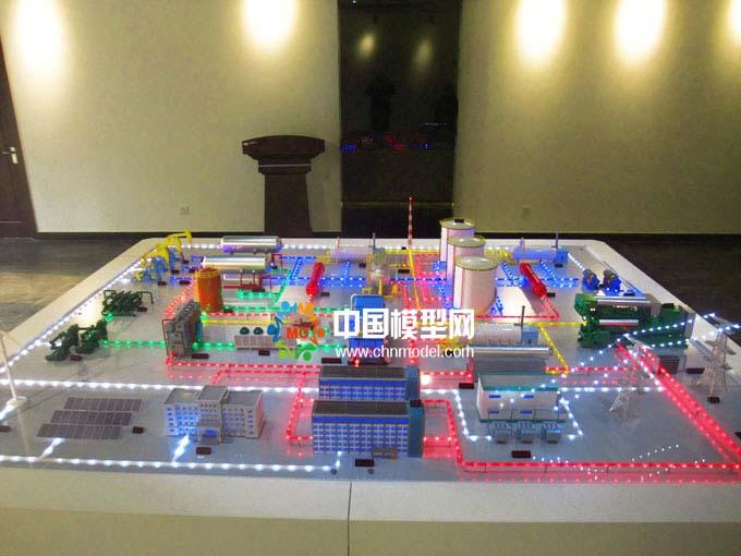 油气田分布式能源沙盘模型