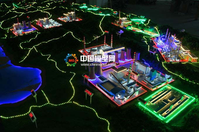 国家电投能源分布沙盘模型