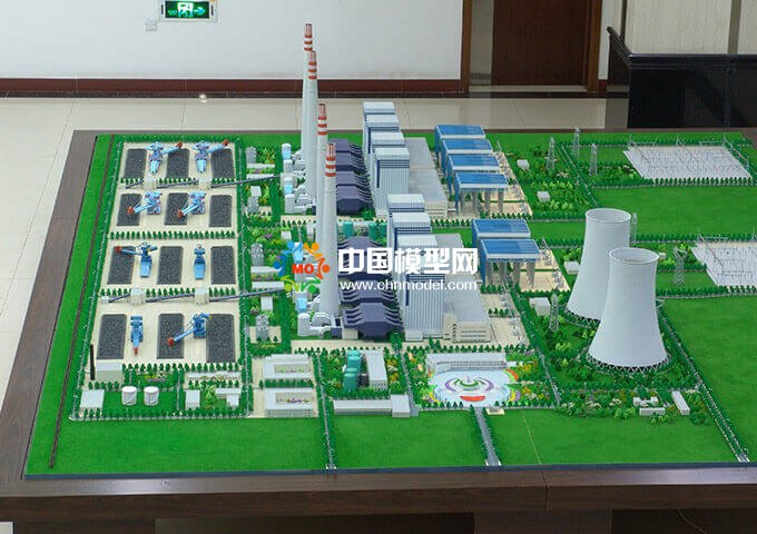 鲁能火电厂沙盘模型