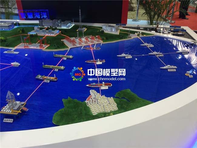 智慧海洋解决方案沙盘模型