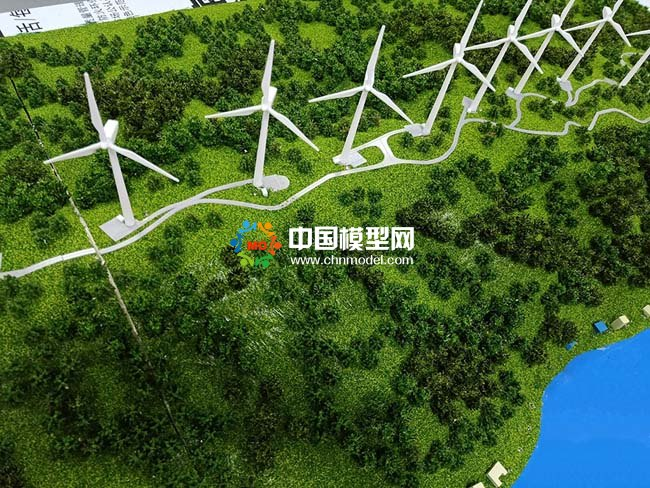 平原风电场沙盘模型