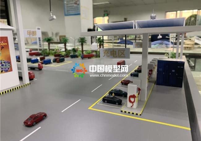 综合供能服务站沙盘模型