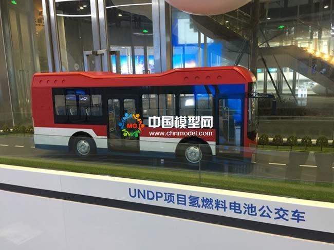 氢燃料电池公交车模型,氢能源大巴车模型