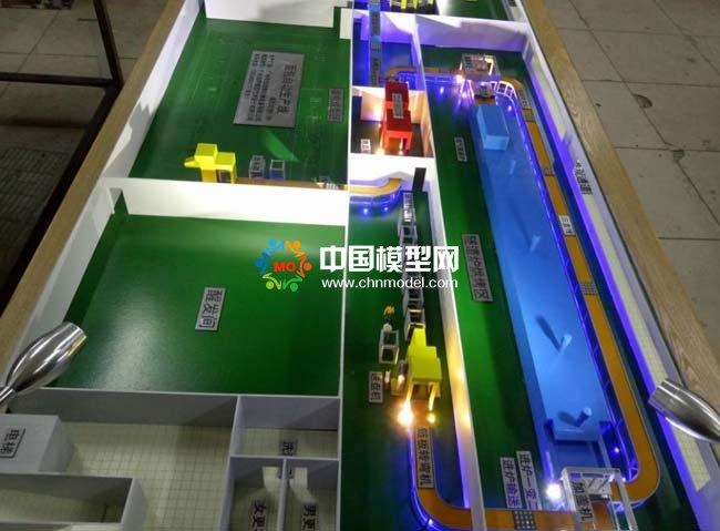 面包自动生产线沙盘模型