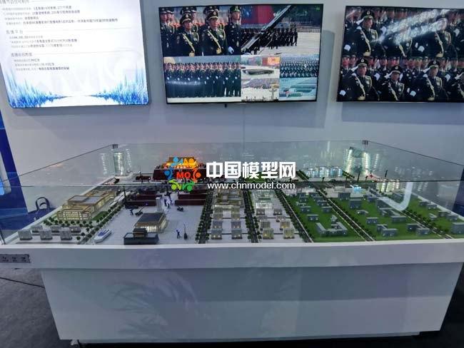 央视国庆阅兵直播机位示意沙盘模型