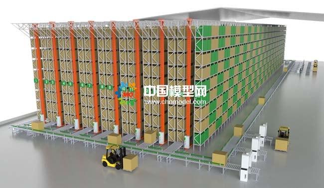 智能仓储系统沙盘模型