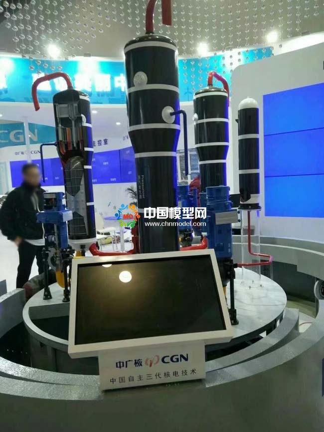 中国自主三代核电技术模型,突破核电装备的自主化