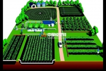 农业施肥沙盘模型,农业灌溉沙盘模型,植保机械模型
