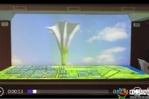 埃及苏伊士合作区展厅规划L幕投影数字模型