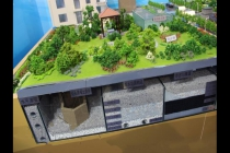 模型公司通过沙盘模型诠释海绵城市概念