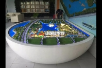 湿地公园规划沙盘模型