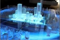 数字化的多媒体技术给水晶沙盘模型增光添彩