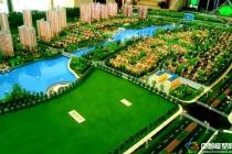 南京万裕·龙庭水岸售楼处展示沙盘模型