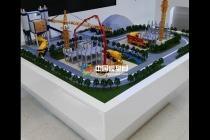 智能施工调度系统沙盘模型