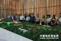 新建京张铁路沙盘模型,有砟轨道标准高速铁路