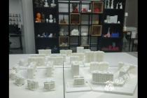 3D打印出来的重庆人民大礼堂建筑模型