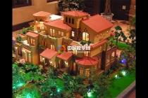 排屋别墅沙盘模型