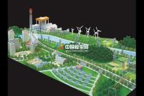 山东华聚发电厂沙盘模型
