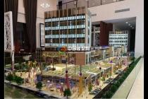 现代生活广场沙盘模型