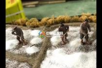 古法制盐微缩场景沙盘模型