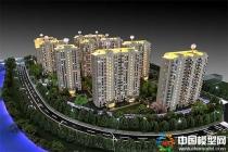 北京绿地海珀云翡建筑模型