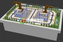 工业沙盘模型不同于房地产沙盘模型设计属性