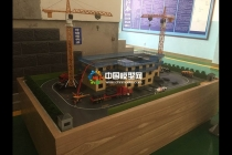 建筑施工场景沙盘模型