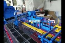 水平脱箱挤压自动造型线沙盘模型