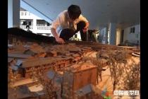 温大建筑工程学院学子制作土楼建筑模型