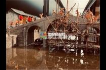 拱宸桥修建微缩场景模型