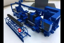 全自动半导体单晶硅滚磨机模型