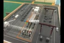 预制生产线沙盘模型